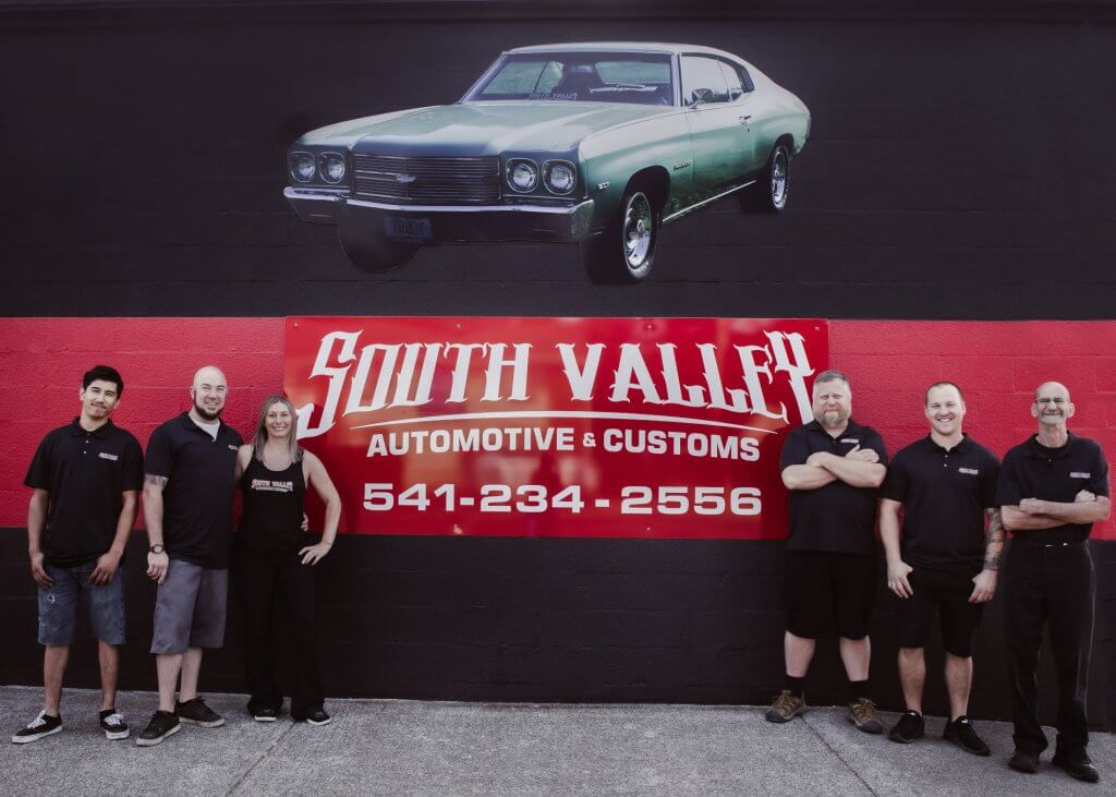 The South Valley Automotive staff in front of their building