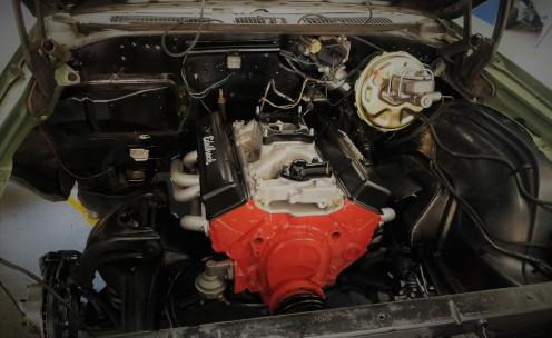 An Edelbrock engine